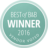 Best of B and B winner 2016 vendor voted
